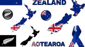 New Zealand Icon SetVector graphic images and icons representing New Zealand.