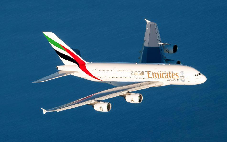 Der Airbus A380 von Emirates