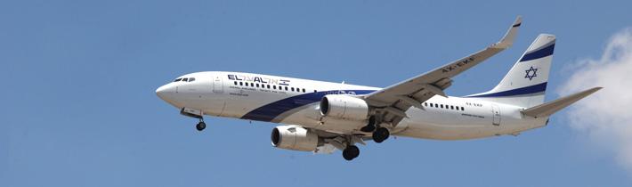 Die Fluggesellschaft EL AL bietet Flüge von und nach Israel an.