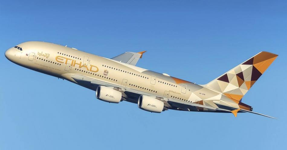Etihad Airways mit Sitz in Abu Dhabi fliegt weltweite Flugziele an.